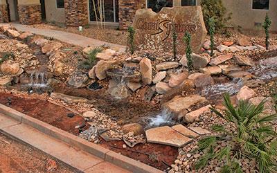 Excavation Companies St George Ut Rock On Walls Amp Falls