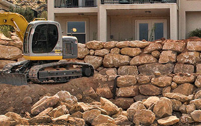 Dirt excavating, rock removal, pool excavation, you name it! From placing  fill dirt and lot preparation to constructing rock retaining walls and  other rock ...